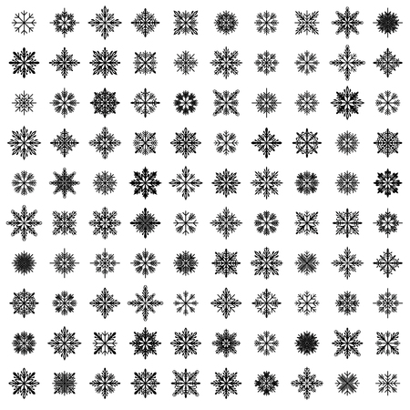 source: 100 vector snowflakes