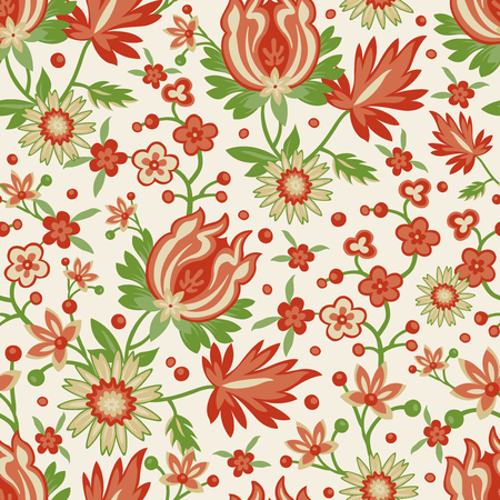 red wallpaper: Seamless red flower wallpaper Illustration