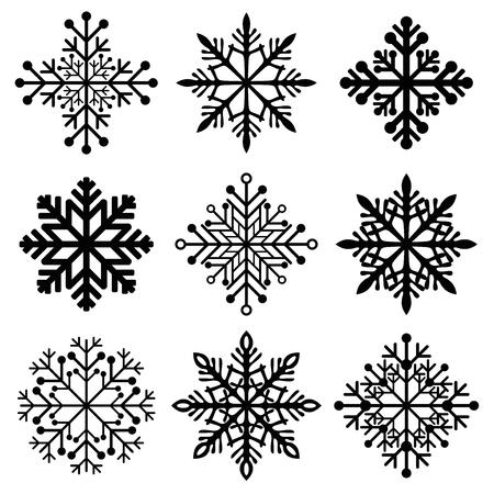 elegantly: winter christmas snowflakes
