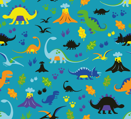 adolescent: seamless pattern dinosaurs
