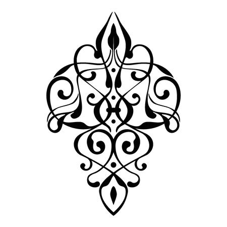 elegantly: elegant damask ornament