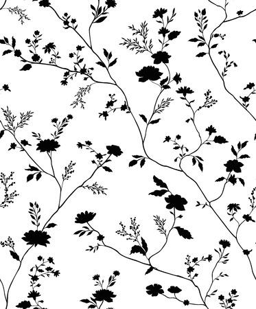 motif floral seamless textile