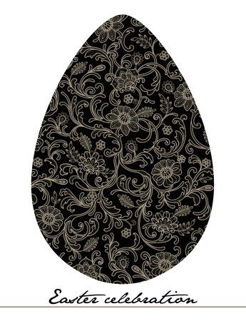 flowerhead: easter egg lace decoration invitation card