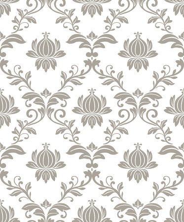 seamless damask: seamless damask pattern