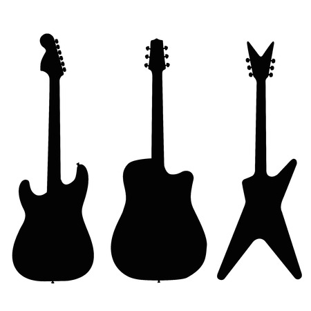 guitar illustration silhouette set