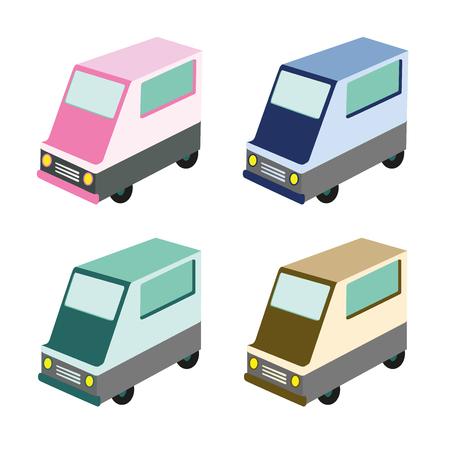 voedsel vrachtwagen illustratie