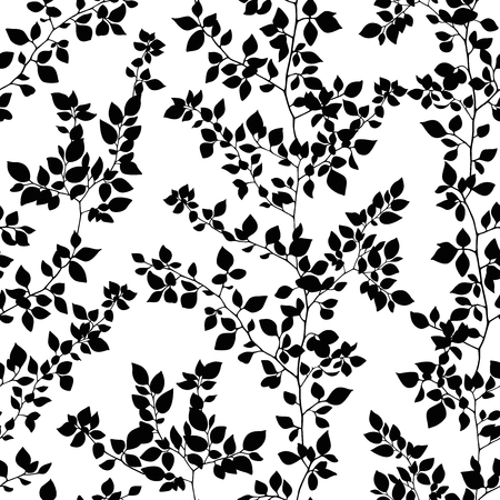 leaf pattern: branches seamless pattern Illustration