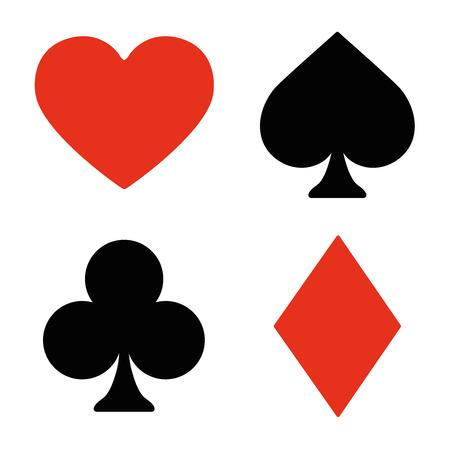 Speelkaart symbolen ingesteld Stock Illustratie