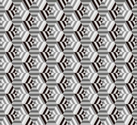 seamless geometrical hexagon pattern Ilustracja