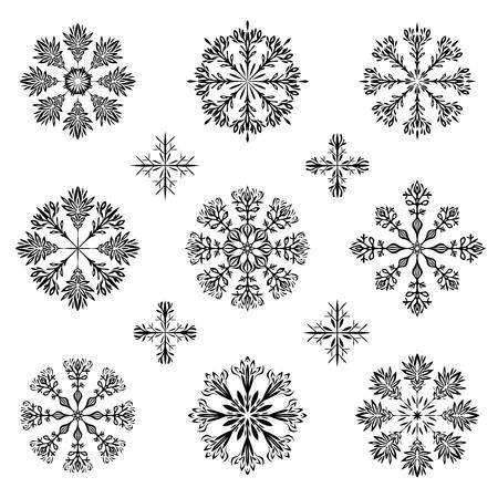 christmas snowflake illustration