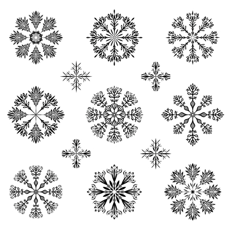 christmas snowflake illustration
