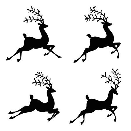 backlit: reindeer silhouette illustration