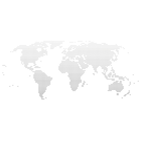 World map illustration dots