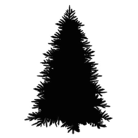 christmas tree silhouette Ilustracja