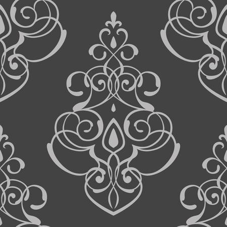 naadloos patroon damastornament Stock Illustratie
