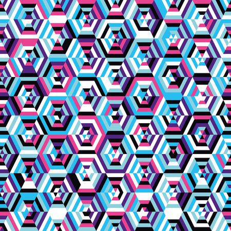 Naadloze patroon hexagons Stock Illustratie