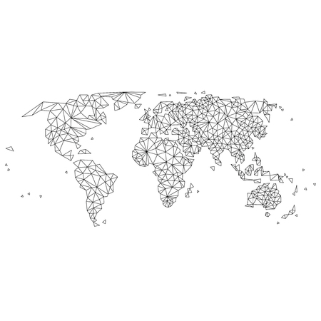 abstract world map lines