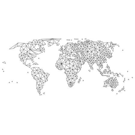 Abstracte wereldkaart lijnen Stock Illustratie