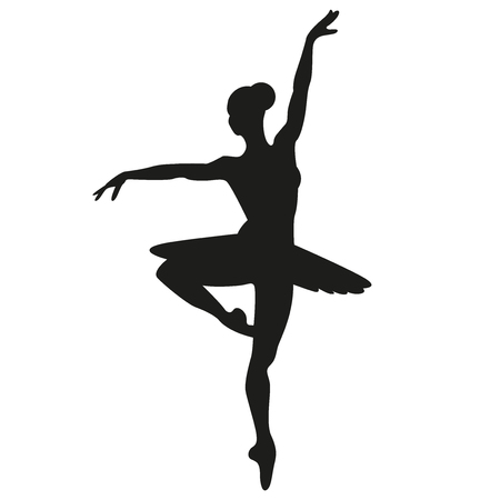 Ballerina vector silhouette illustration
