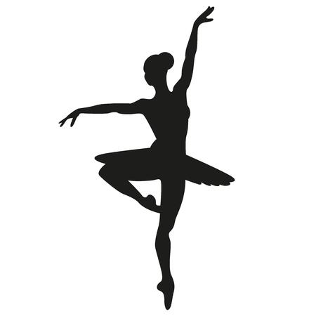 Ballerina vector silhouette illustration