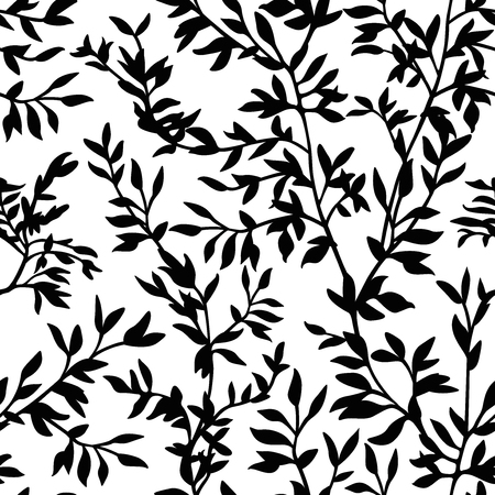 Seamless pattern branches silhouette Ilustracja