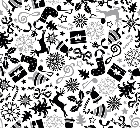 Christmas seamless pattern Vector illustration. Illusztráció