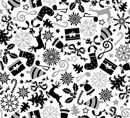 Christmas seamless pattern Vector illustration. Ilustracja