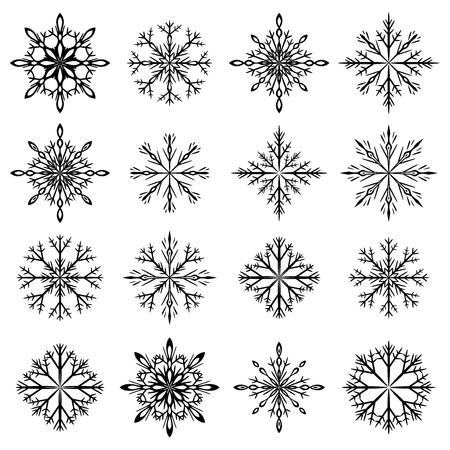 Sneeuwvlokken set.