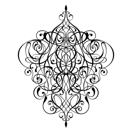 Victorian ornament vector design illustration.