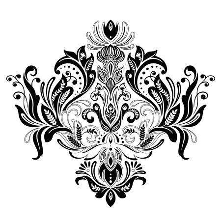 floral Victorian ornament vector design