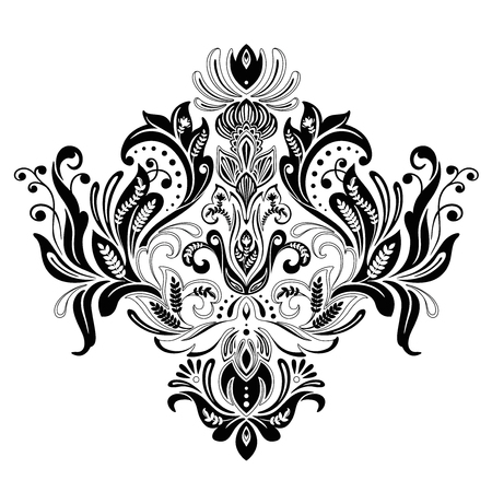 floral Victorian ornament vector design