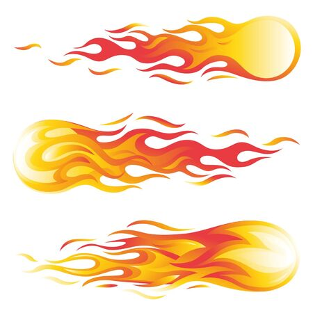fireball vector illustration set