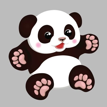 panda baby vector illustration