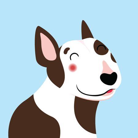 Bull terrier illustration