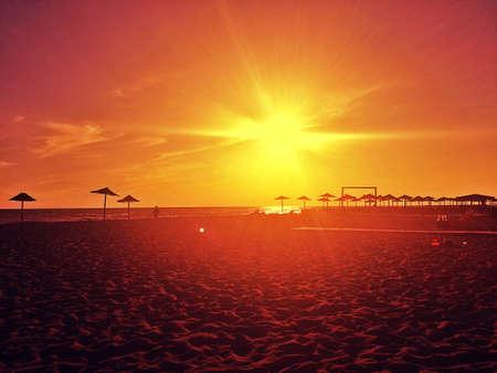 Amazing sunset and beach, Ada Bojana , Montenegro