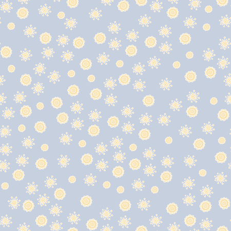 pastel shades: Seamless pattern of hand-painted flowers and leaves in pastel shades. Illustration