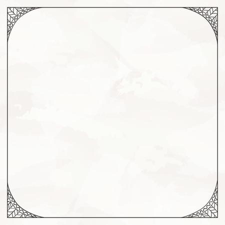 gamma: Hand-drawn decorative frame. Monochrome gamma.
