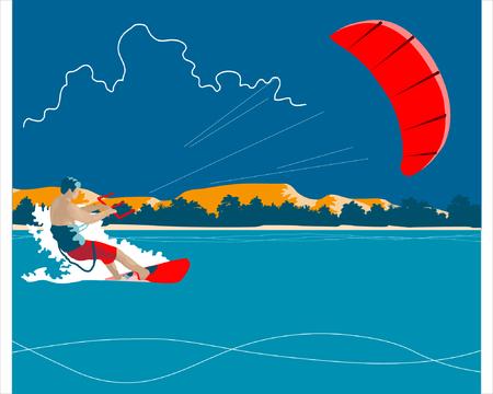 Kiteboarding background