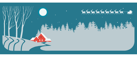 Christmas blue and silver background Illustration