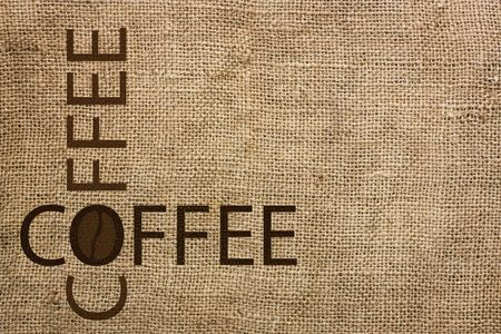 burlap background coffee