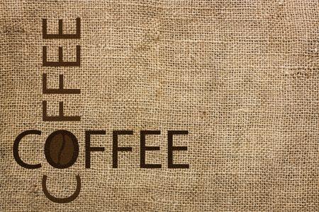 burlap background coffee photo