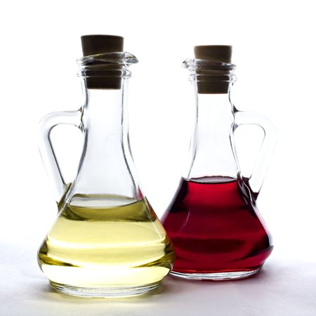 oil and vinegar bottles  Archivio Fotografico