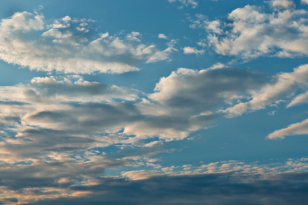 Blue sky with clouds background, blue sky with clouds Stock Photo