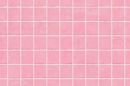 Pink tile wall texture background, colored mosaic background tiles