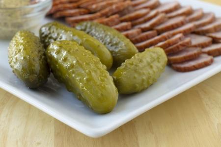 cucumbers: pickled cucumbers Stock Photo