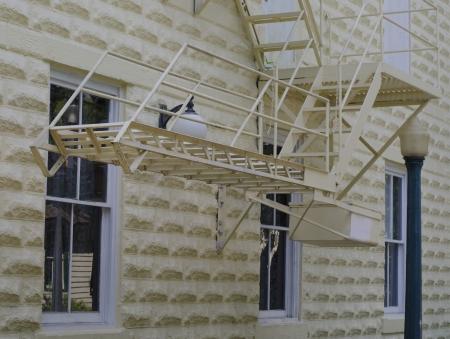 escape: fire escape Stock Photo