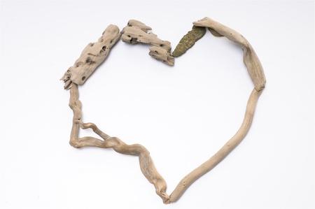 heart shape made by wood sticks Stock Photo - 9260355