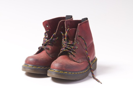 unisex red boots photo