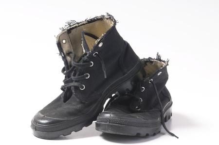 unisex black boots Stock Photo - 9339461