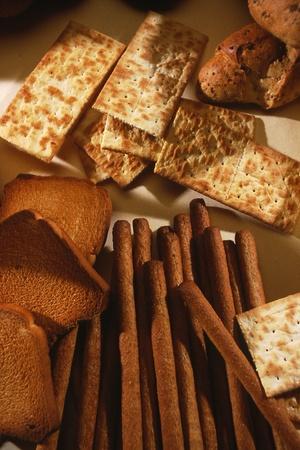 mix of different crispbread  Archivio Fotografico